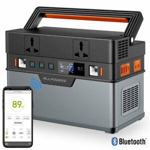 ALLPOWERS Tragbarer Powerstation 606Wh/164000mAh Solar Generator 500W Batterie