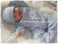 HONEYDROPDESIGNS * RUDDY * PAPER KNITTING PATTERN * 0-6 MONTHS Approx.