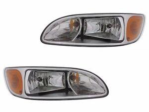 00-15 Peterbilt Truck 330 325 335 340 348 384 386 387 Head Light Lamp - PAIR SET