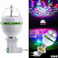 Bombilla LED Luz Discoteca Mini Lampara Party Fiesta RGB Giratoria con Adaptador