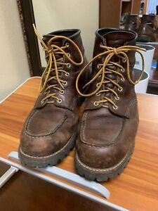 """12 Red Wing Heritage 8146 Roughneck Briar Oil Slick Leather 6"""" Moc Toe Boots 12"""