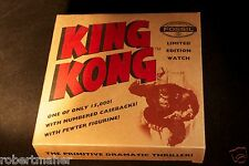 Fossil 1995 Limited Edition King Kong Watch in Tin With Pewter Figure Unused