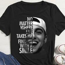 Rare Mac Miller No Matter Where Life Takes Me Find Me Black T-shirt S-4XL KL050