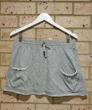 Grey Jersey Pocket Skirt, Sporty, Drawstring Elastic Waist, Ladies XS, MaxBody
