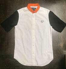 RAF SIMONS X FRED PERRY MENS COTTON BUTTON DOWN SHIRT SZ S
