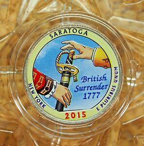 COLORIZED 2015-P / SARATOGA / AMERICA THE BEAUTIFUL QUARTER...13352