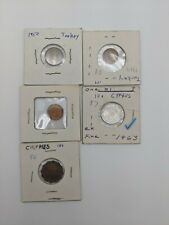 New ListingFive Middle East coins from Turkey and Cyprus