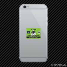 Zombie Utah State Hunting Permit Cell Phone Sticker Mobile UT