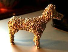 More details for vintage small cast silver metal small dog figurine ornament