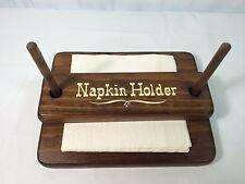 Vintage Country Solid Dark Wood Cornwall Stacker Napkin Holder