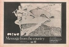 The MOVE (Roy Wood) Message From Country 1972 UK Press ADVERT 12x8 inches