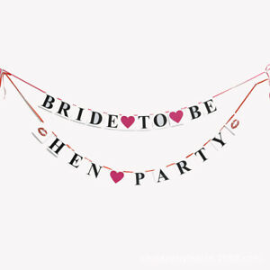 BRIDE TO BE BRIDAL SHOWER BANNER BUNTING HEN NIGHT PARTY DECORATION