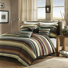 """Madison Park Yosemite Quilted Bedding Set, Full/Queen(90""""x90 34;), Purple/Teal"""