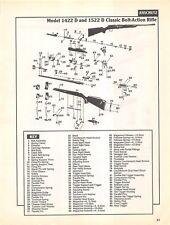 Anschutz Classic Bolt Action Rifle Isometric View Diagram Gun Print Vintage