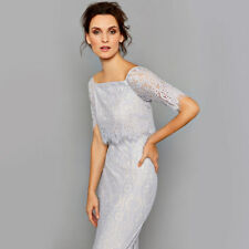 Coast Marsha Lace Dress Silver Size UK 8 LF170 BB 20
