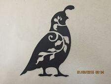 SET OF (3) DESIGNER  QUAIL METAL ART TEXTURED BLACK POWDER COAT FINISH