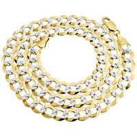 """Real 10K Yellow Gold Solid Diamond Cut Cuban Link Chain 9.50mm Necklace 20-30"""""""