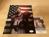 Anthony Davis Team USA Los Angeles Lakers Autographed Signed 8X10 Photo JSA COA