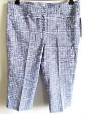 Womens Stretch Capri Pants size 14 LARGE L blue cropped HEART N CRUSH trouser