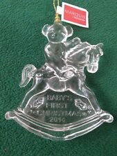 """Marquis by Waterford Crystal Ornament """"Baby's First Christmas 2014"""" 165104(OM39)"""