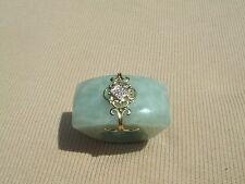 huge jade, 14k yellow gold & diamond ring 21.9 grams size 6