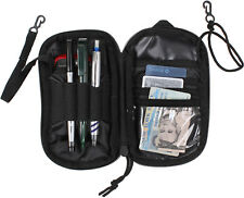Black Tactical Travel Wallet Carry Pouch ID Holder Passport Cards Belt Snaps