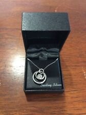 """Diamond Triple Circle 18"""" Pendant Necklace (1/10 ct. t.w.) in Sterling Silver"""