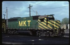 35mm slide MKT Missouri-Kansas-Texas Railroad EMD GP40 171 Kansas City KS USA89o