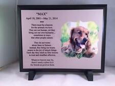 Pet Memorial - Personalized Photo Dog / Cat Memorial Plaque - Thoughtful Gift