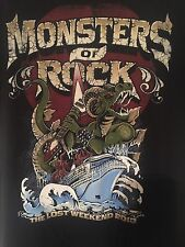 Monster of Rock Cruise 2013 Women's Fitted Tshirt Size Small Heavy Metal