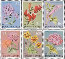 Yougoslavie 1676-1681 (édition complète) neuf 1977 fleurs de jardin