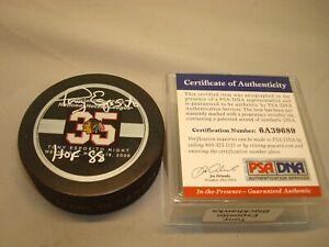 Tony Esposito Signed Chicago Blackhawks Official Game Hockey Puck PSA/DNA COA 1C