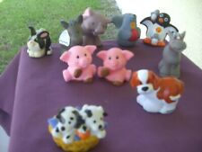 Fisher Price Little People Animals Lot of Ten All Are Perfect Pre-Owned Cleaned