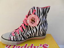 Skechers Wicked Chaussures Femme 39 40 Baskets Tennis Compensé Wedge Zebra New
