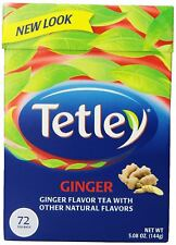 NEW! Tetley Ginger Tea 72 Tea Bags Flavored USA SELLER FREE FAST SHIPPING