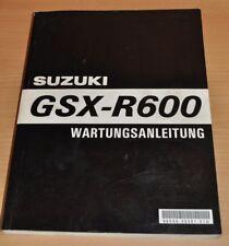 Suzuki Motorrad GSX-R600 GSX R 600 1996 Werkstatthandbuch Wartungsanleitung