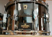 "Ludwig 14x8"" Supra Phonic Black Beauty Snare Drum USA LB408 Classic Lugs Brass"