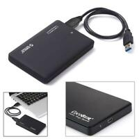 Slim Portable 2.5 Inch HDD Enclosure USB 2.0 External Hard Disk Case Black