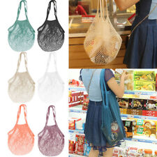 Turtle SHOPPING Bag ORGANIC COTTON STRING/NET Tote Reusable Mesh Storage Handbag