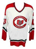 Any Name Number Size Cleveland Barons Retro Custom Hockey Jersey White
