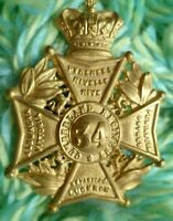 VICTORIAN 34th Cumberland Regiment of Foot Glengarry Cap Badge QVC ANTIQUE