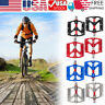 2PCS Aluminum Alloy Bicycle Pedal MTB Road Bike Flat Pedals Sealed Bearing 9/16