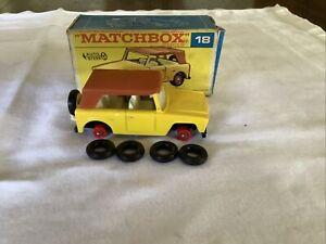 Matchbox No. 18 Field Car In Original Box.