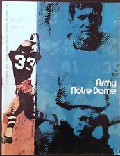 1970 Notre Dame - Army College Football Program - Irish Win - Joe Theismann