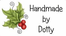 Etiquetas Personalizadas Mini Pegatinas X 65-hecho a mano por-Navidad que gira Holly
