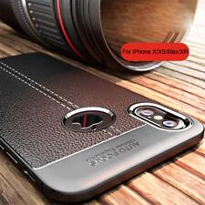 Für iPhone 11 Pro Xs Max Xr X 8 7 6s Silikon TPU Leder Rückseite Fall Handyhülle