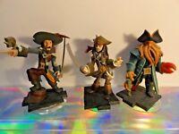 Disney InfinityPirates Series Captain Jack - Davy Jones - Barbossa Figures Set