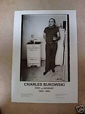 CHARLES BUKOWSKI: Poster: Poet & Novelist - S/N  Limited Edition - Free Shipping