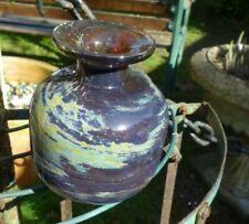 Mdina art glass -  vase  - signed