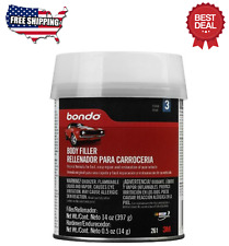 14 Oz Auto Body Filler Metal Car Boat Bondo Kit Gallon Cream Hardener Automotive